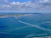 Nederland, Noord-Holland, gemeente Den Helder, 07-05-2021; Zicht op het Marsdiep met twee TESO veerboten van en naar Texel. Veerhaven het Horntje aan de horizon.<br /> View of the Marsdiep with two TESO ferries to and from Texel. Veerhaven het Horntje on the horizon.<br /> aerial photo (additional fee required)<br /> copyright © 2021 foto/photo Siebe Swart