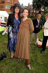 Left to right, actress VICKI MICHELLE and actress LYNNE MILLER at the Lady Taverners Westminster Abbey Garden Party, The College Garden, Westminster Abbey, London SW1 on 10th July 2007.<br />