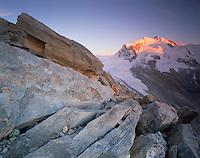 Mission Matterhorn, View from Hohtälligrat to Monte Rosa 4634 m, Matterhorn, Switzerland