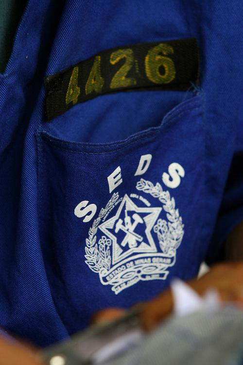 Nova Contagem_MG, Brasil...Projeto Fred. Detalhe da roupa de um presidiario...Fred project. Detail of the prisoner clothe...Foto: BRUNO MAGALHAES / NITRO