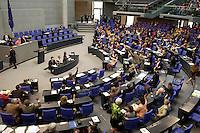 02 JUL 2004, BERLIN/GERMANY:<br /> Abstimmung durch Hand aufheben, nach der Bundestagsdebatte zur Zusammenlegung von Arbeitslosenhlfe und Sozialhilfe, Hartz IV, Plenum, Deutscher Bundestag<br /> IMAGE: 20040702-01-110<br /> KEYWORDS: Sitzung, Übersicht, Uebersicht, Hand heben