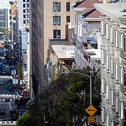 Street photography in Union Hill area of San Francisco, 2019.