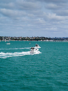 View of Half Moon Bay from a ferry; Auckland, New Zealand