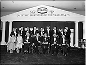 1982 - Texaco Sportsters awards 1980-81 at the Burlington Hotel