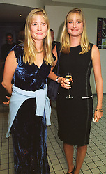 Left to right, sisters MRS RUPERT CORDLE and MRS BEN SANGSTER at a dinner in London on 17th May 1998.MHO 3
