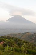 Muhavura, volcano in Parc National des Volcans, RwandaMuhavura, landscape, clouds, forest