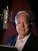 Legendary Chicago newsman Bill Kurtis, the voice of the Anchorman movies, in a recording studio Friday, Dec. 13, 2013 at Chicago Recording Company. (Brian Cassella/Chicago Tribune) B583398529Z.1 <br /> ....OUTSIDE TRIBUNE CO.- NO MAGS,  NO SALES, NO INTERNET, NO TV, CHICAGO OUT, NO DIGITAL MANIPULATION...
