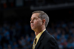 CHAPEL HILL, NC - FEBRUARY 15: Head coach Jeff Bzdelik of the Wake Forest Demon Deacons coaches his team while playing the North Carolina Tar Heels at the Dean E. Smith Center in Chapel Hill, North Carolina. North Carolina won 64-78. (Photo by Peyton Williams/UNC/Getty Images) *** Local Caption *** Jeff Bzdelik
