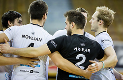 Players of Calcit during volleyball match between ACH Volley and OK Calcit Volleyball in 10th Round of Slovenian National Championship 2014/15, on March 11, 2015 in Arena Tivoli, Ljubljana, Slovenia. Photo by Vid Ponikvar / Sportida