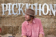 Todd Snider backstage at Pickathon 2012 at Pendarvis Farm in Happy Valley, OR. Photo by Jason Quigley