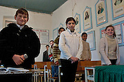 Pirsaat, Azerbaijan, 02/12/2004..Village school which is being renovated with the help of BTC project funding.