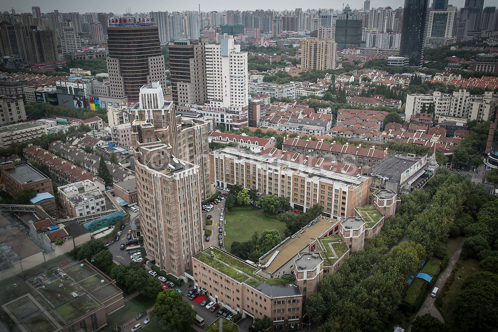 A view of  Sir Victor Sassoons Grosvenor House, in Shanghai, China on September 21, 2014. Sassoon was a jewish tycoon that left a series of buildings that once dominated the city of Shanghai in the 1920s and 30s.