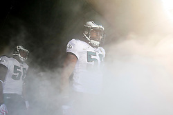 Philadelphia Eagles defensive end Trent Cole #58 prepares to enter the field before the NFL game between the Tampa Bay Buccaneers and the Philadelphia Eagles on October 11th 2009. The Eagles won 33-14 at Lincoln Financial Field in Philadelphia, Pennsylvania. (Photo By Brian Garfinkel)