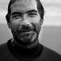Indigenous surfer Anthony Hume exudes a post-surf 'glow' after a surf at his home break of Bells Beach.