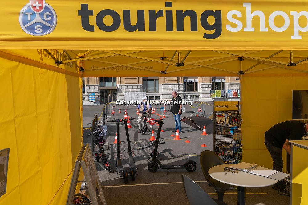 Neuchâtel, 08 septembre 2020. E-Mobility Day à Neuchâtel. Toute la journée on a pu essayer des voitures électriques et s'informer sur les nouvelles formes de  mobilité (vélo, trotinette etc.) © Olivier Vogelsang