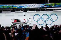 Women's Bobsleigh Final on Day 13 of the Vancouver 2010 Winter Olympics. Canada wins Gold and Silver!