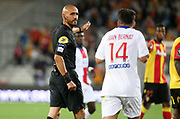 Referee Hakim Ben El Hadj during the French championship Ligue 1 football match between RC Lens (Racing Club de Lens) and Paris Saint-Germain (PSG) on September 10, 2020 at Stade Felix Bollaert in Lens, France - Photo Juan Soliz / ProSportsImages / DPPI