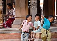 Children playing in Durbar Square, Kathmandu, Nepal