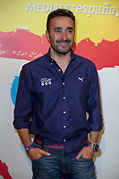 Mediaset presents media coverage of the World Cup soccer in Brazil at Ciudad del Futbol, Madrid. In the pic: Juanma Castano. May 27, 2014. (ALTERPHOTOS / Nacho Lopez)
