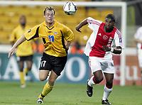 Fotball<br /> UEFA Cup<br /> 14.09.2006<br /> Åråsen Stadion<br /> Start v Ajax Amsterdam<br /> Foto: Morten Olsen, Digitalsport<br /> <br /> Ryan Babel - Ajax<br /> Lars Martin Engedal - Start