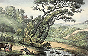 A Cornish View 1810 Thomas Rowlandson (British, 1756-1827) Engalnd, early 19th Century Etching, hand colored