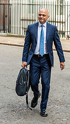 Chancellor, Sajid Javid leaves 11 Downing Street.<br /> <br /> Richard Hancox | EEm 12082019