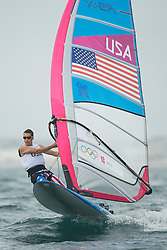 31.07.2012, Bucht von Weymouth, GBR, Olympia 2012, Windsurfen, im Bild RS:X Men, Willis Robert (USA) . EXPA Pictures © 2012, PhotoCredit: EXPA/ Juerg Kaufmann ***** ATTENTION for AUT, CRO, GER, FIN, NOR, NED, POL, SLO and SWE ONLY!