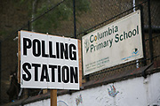 Voters attending a polling station in East London on the day of the general election on June 8th 2017 in East London, United Kingdom.
