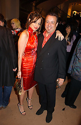 HAMISH McALPINE and CAROLE SILLER at a party to celebrate 100 years of Chinese Cinema hosted by Shangri-la Hotels and Tartan Films at Asprey, New Bond Street, London on 25th April 2006.<br /><br />NON EXCLUSIVE - WORLD RIGHTS