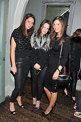 Left to right, INDIA LANGTON, BELLA MUSGRAVE and AMANDA SHEPPARD at a carnival themed party hosted by Stacey Bendet for the Alice & Olivia fashion label at Paradise, Kensal Green, London on 9th November 2011
