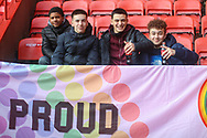 Young Charlton Athletic fans during the EFL Sky Bet League 1 match between Charlton Athletic and Southend United at The Valley, London, England on 9 February 2019.