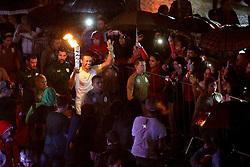 O secretário do Turismo, Esporte e Lazer, Juvir Costella participa do revezamento da Tocha Olímpica, em Erechim, RS.  Aceso em 21 de abril, em ritual repetido a cada quatro anos em Olímpia, na Grécia, o símbolo olímpico passará por 28 cidades gaúchas de 3 a 9 de julho e será conduzido por 617 indicados no Rio Grande do Sul, começando por Erechim e se despedindo em Torres, em percurso de mais de dois mil quilômetros. Foto: Marcos Nagelstein / Agência Preview