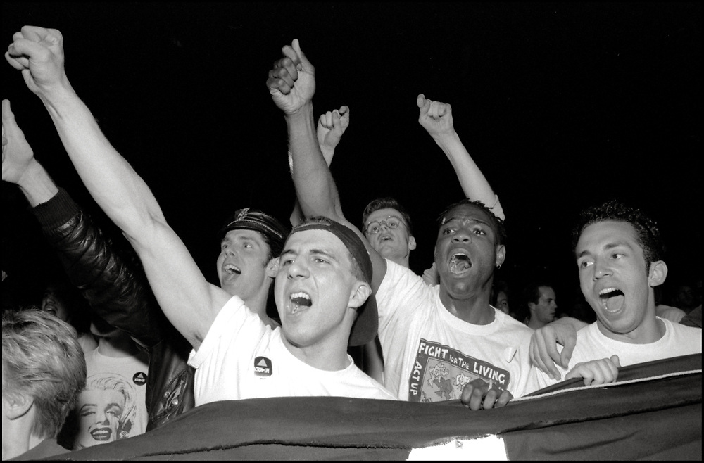 On April 28th, 1990, a pipe bomb exploded at a crowded gay bar, Uncle Charlie's, in New York City. Three people were injured. The following night 1500 people marched through the West Village to express their concern over the increasing incidence of violence directed at gay people and their outrage that the bombing was not designated a bias-related crime.