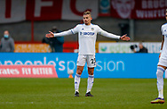 Leeds United midfielder Kalvin Phillips (23)  during the The FA Cup match between Crawley Town and Leeds United at The People's Pension Stadium, Crawley, England on 10 January 2021.