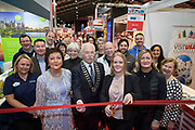 NO FEE PICTURES<br /> 25/1/19 Open of the Visit USA stands pictured at the Holiday World Show 2019 at the RDS Simmonscourt in Dublin. Picture; Arthur Carron