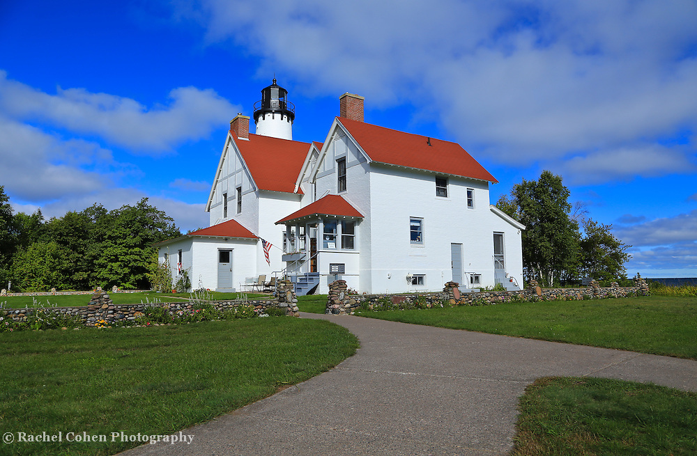 """""""Upon Point Iroquois""""<br /> <br /> Lovely Point Iroquois Light Station located on Lake Superior!!<br /> <br /> Lighthouses of the Great Lakes by Rachel Cohen"""