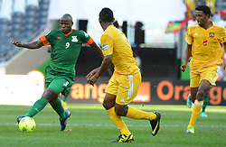 Zambia's Collins Mbesuma during the 2013 Africa Cup of Nations soccer match, Zambia vs Ethiopia at The Giraffe Stadium in Mbombela on January 21, 2013. The match ended in a 1-1 draw. Photo by Christian Liewig/NCI/ABACAPRESS.COM  | 349263_047