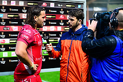 Josh Macleod of Scarlets is awarded with man of the match  - Mandatory by-line: Dougie Allward/JMP - 02/11/2019 - RUGBY - Parc y Scarlets - Llanelli, Wales - Scarlets v Toyota Cheetahs - Guinness PRO14