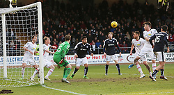 Dundee's Kane Hemmings about to score their goal. <br /> Dundee 1 v 1 Inverness Caledonian Thistle, SPFL Ladbrokes Premiership game played at Dens Park, 27/2/2016.