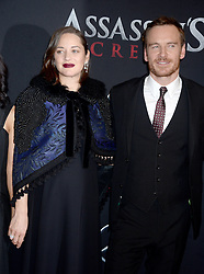 A pregnant Marion Cotillard and Michael Fassbender attending the Assassin's Creed premiere at AMC Empire 25 theater on December 13, 2016 in New York City, NY, USA. Photo by Dennis Van Tine/ABACAPRESS.COM