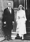 Albert I (1875-1934) King of the Belgians from 1909 with his consort, Queen Elizabeth