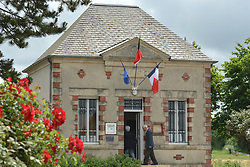 June 11, 2017 - Vendes, France - French citizens arrive to the Polling Station to cast their votes in Vendes town hall...French legislative (parliamentary) elections are scheduled to take place on 11 and 18 June (with different dates for voters overseas) to elect the 577 members of the 15th National Assembly of the French Fifth Republic. According to the final list published by the Ministry of the Interior on 23 May, a total of 7,882 candidates are standing in the legislative elections..On Sunday, June 11, 2017, in Vendes, Calvados, France. (Credit Image: © Artur Widak/NurPhoto via ZUMA Press)