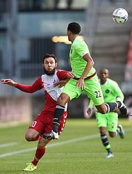 13-12-2015 NED: FC Utrecht - AFC Ajax, Utrecht<br /> Utrecht verslaat Ajax opnieuw in de Galgenwaard 1-0 / Nacer Barazite #10, Jairo Riedewald #22