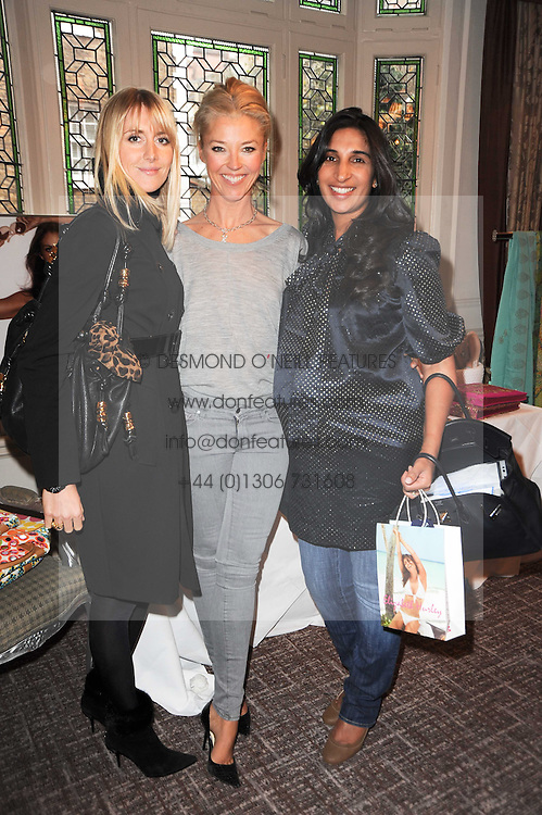 Left to right, LADY EMILY COMPTON, TAMARA BECKWITH and   at a shopping afternoon hosted by Amanda Kyme and Tamara Beckwith featuring designs from Elizabeth Hurley held at the Cadogan Hotel, 75 Sloane Street, London SW1 on 23rd November 2010.