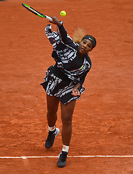 USA's Serena Williams playing in the second round of the 2019 BNP Paribas Tennis French Open, in the Roland-Garros Stadium, Paris, France, on May 30th, 2019. Photo by Christian Liewig/ABACAPRESS.COM