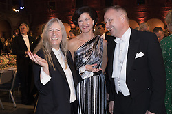 Patti Smith, Anna Kinberg Batra, Jonas Sjˆstedt <br /> <br />  <br /> <br />  beim Nobelbankett 2016 im Rathaus in Stockholm / 101216 <br /> <br /> <br /> <br /> ***The Nobel banquet, Stockholm City Hall, December 10th, 2016***