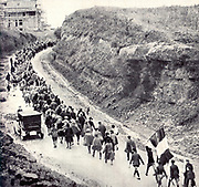 Fascists march to Rome during the so called 'March on Rome' 1922
