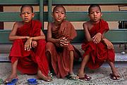 Novice monks, Rangoon (Yangon).