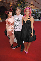 Left to right, JAIME WINSTONE, ALFIE ALLEN and LILY ALLEN at the Royal Academy of Art Summer Exhibition Preview Party on 4th June 2008.<br />