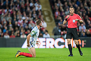 England (8) Jordan Henderson during the FIFA World Cup Qualifier match between England and Slovenia at Wembley Stadium, London, England on 5 October 2017. Photo by Sebastian Frej.
